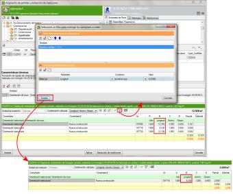 Presupuesto y medición de modelos BIM. Filtros por asignaciones de mediciones